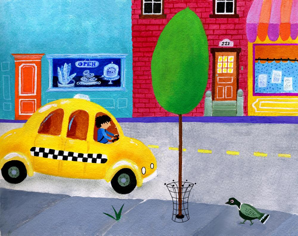 City-Poplar-for-Ladybug-magazine---mixed-media